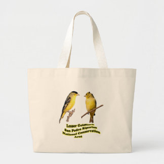 Lesser Goldfinches Large Tote Bag