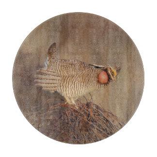 Lesser Prairie Chicken lek Milnesand, New Mexico Cutting Board