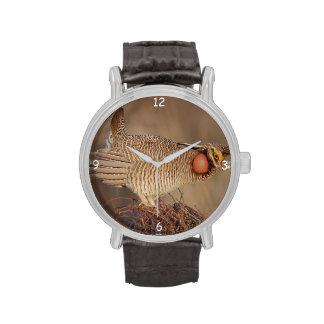 Lesser Prairie Chicken lek Milnesand, New Mexico Wrist Watch