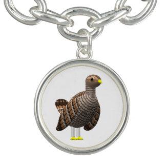 Lesser Prairie Chicken Charm Bracelet
