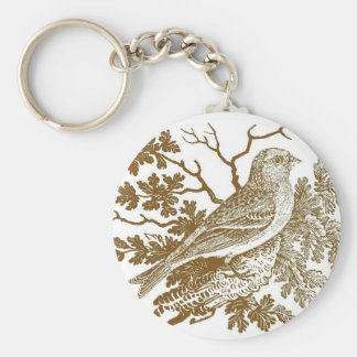 Lesser Redpoll Woodcut Key Chains