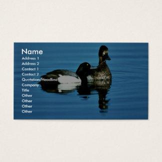 Lesser scaup business card