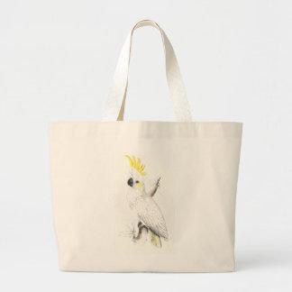 Lesser Sulphur-Crested Cockatoo by Edward Lear Canvas Bag