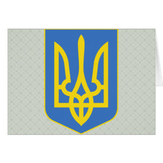 Lesser Ukraine Coat of Arms detail Greeting Card