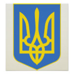 Lesser Ukraine Coat of Arms detail Print