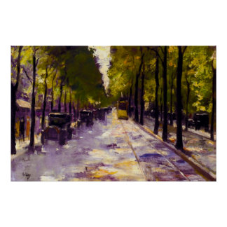 Lesser Ury Berlin Street in the Sunshine Poster