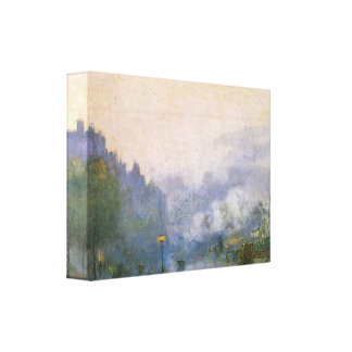 Lesser Ury - Thames Port Gallery Wrapped Canvas