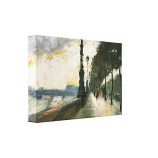 Lesser Ury - Waterloo Bridge in the Sun Gallery Wrapped Canvas