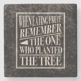 Lesson in Gratitude -Vintage Style Words of Wisdom Stone Coaster