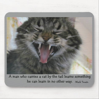 Lesson learned,  quote by Mark Twain Mouse Pad