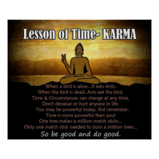 Lesson of Time ~ KARMA Poster