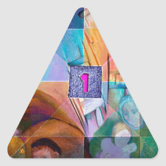 LESSON ONE ITS NOT ABOUT COLOR.jpg Triangle Sticker