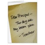 Lesson Plan Greeting Card