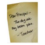 Lesson Plan Postcard