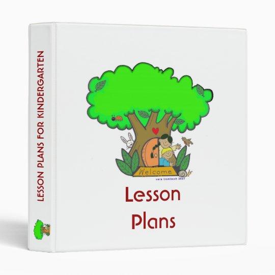 Lesson Plans 3 Ring Binder
