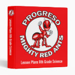 Lesson Plans Binder Progreso Red Ants