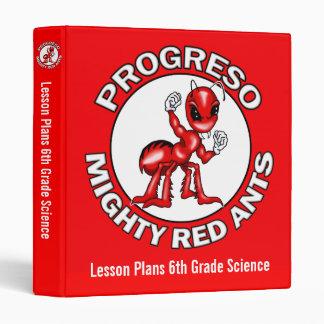Lesson Plans Binder Progreso Red Ants