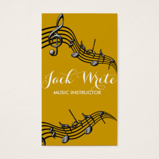 Lessons Instrument Music Instructor Business Business Card