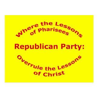 Lessons of Christ Postcard
