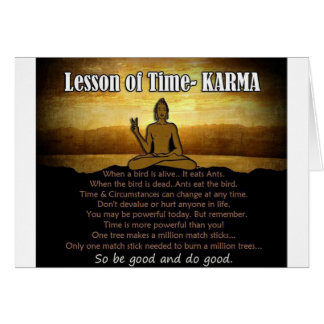 Lessons of Time_Karma Greeting Card