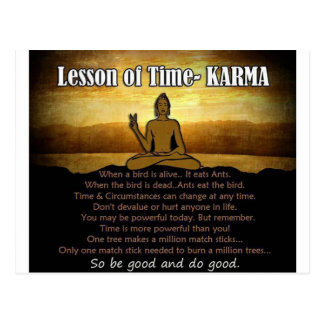 Lessons of Time_Karma Postcard