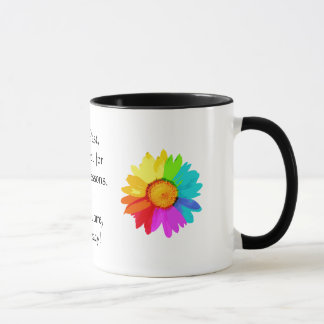 Lessons - Rainbow Floral Inspirational Mug