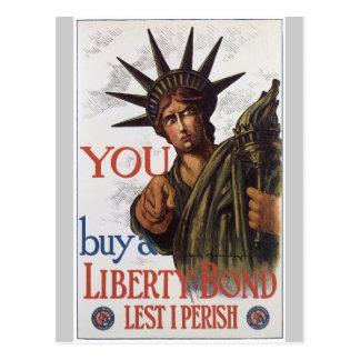 Lest I Perish World War 2 Post Card