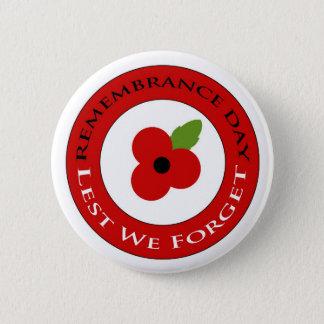 Lest we forget - Badge Pinback Button