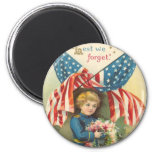 Lest We Forget Memorial Day 2 Inch Round Magnet
