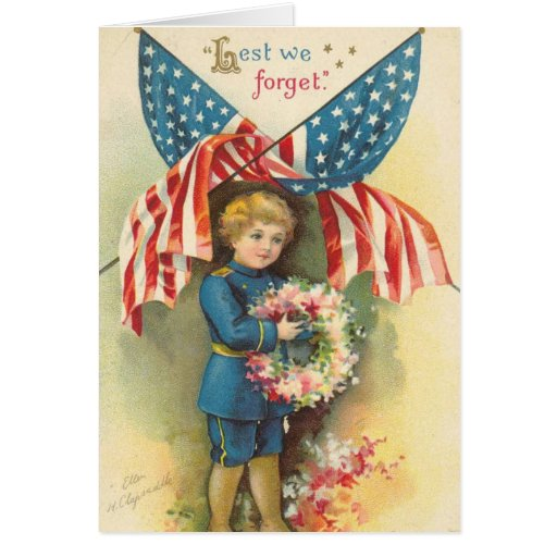 Lest We Forget Memorial Day Greeting Card