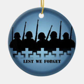Lest We Forget Ornament Personalized Memorial Gift