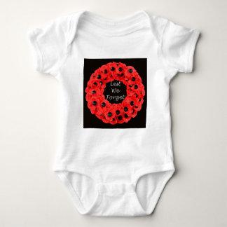 Lest We Forget (Poppy Wreath) Baby Bodysuit