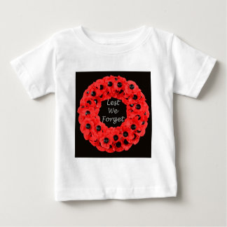 Lest We Forget (Poppy Wreath) Baby T-Shirt