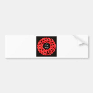 Lest We Forget (Poppy Wreath) Bumper Sticker
