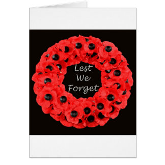 Lest We Forget (Poppy Wreath) Card