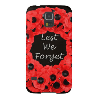 Lest We Forget (Poppy Wreath) Case For Galaxy S5