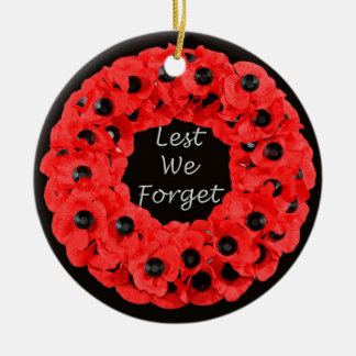 Lest We Forget (Poppy Wreath) Ceramic Ornament