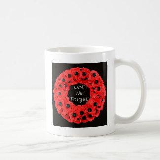 Lest We Forget (Poppy Wreath) Coffee Mug
