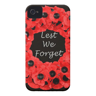 Lest We Forget (Poppy Wreath) iPhone 4 Case-Mate Cases