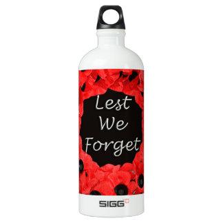 Lest We Forget (Poppy Wreath) Water Bottle
