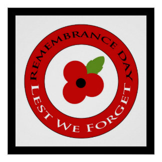 Lest we forget - Poster