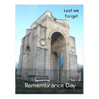 Lest we forget Remembrance Day Post Card