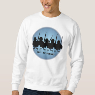 Lest We Forget Shirt Soldiers Tribute Sweatshirt