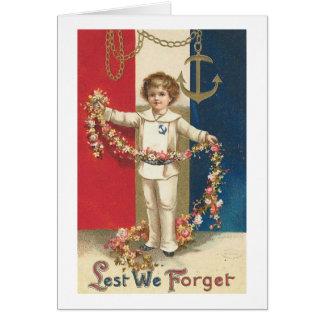 Lest We Forget Vintage Americana Card