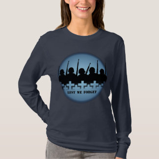 Lest We Forget Womens Shirts War Peace Soldiers