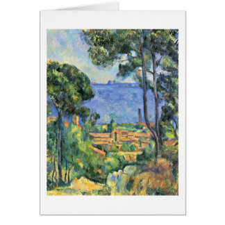 L'Estaque And The Chateaux D'If By Paul Cezanne Greeting Card