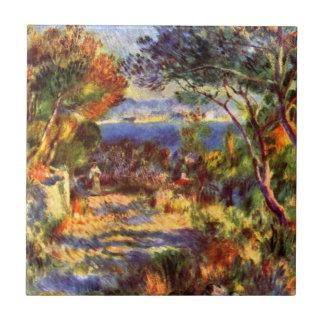 L'Estaque by Pierre Renoir, Vintage Impressionism Ceramic Tile