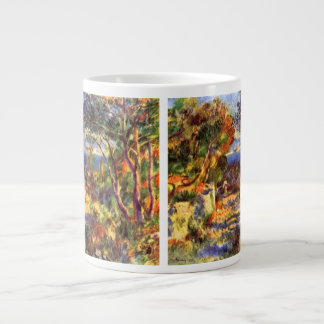 L'Estaque by Pierre Renoir, Vintage Impressionism Giant Coffee Mug
