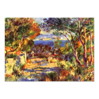 "L'Estaque by Renoir, Vintage Impressionism Art 5"" X 7"" Invitation Card"