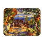 L'Estaque by Renoir, Vintage Impressionism Art Rectangular Magnets